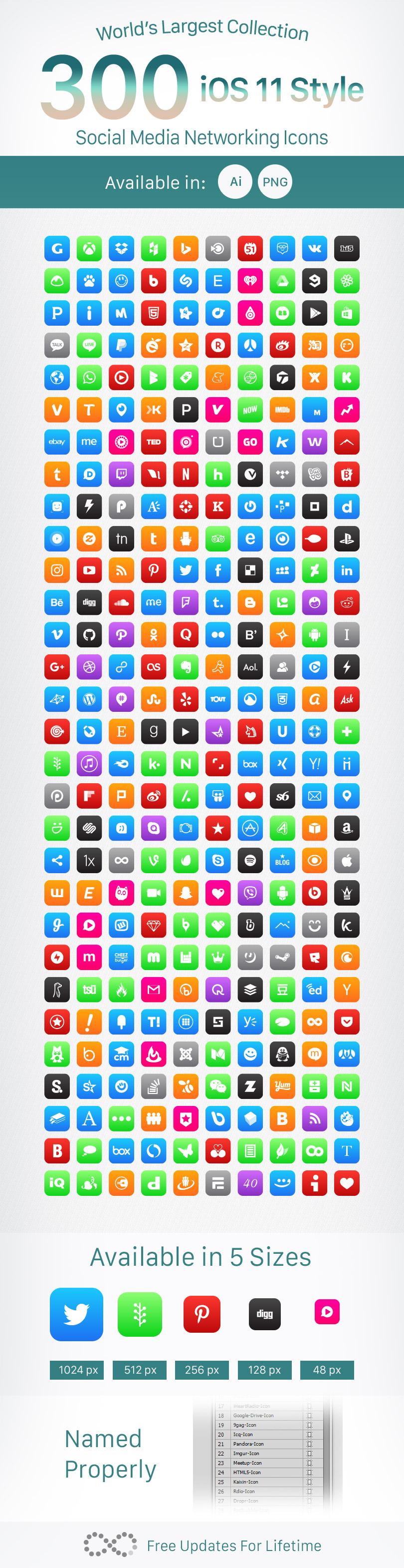 300-iOS-Style-Social-Media-Icons-2018-Vector-Ai-PNGs-Free-&-Premium