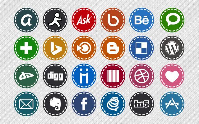 Hand-stitch-Social-Media-Icons
