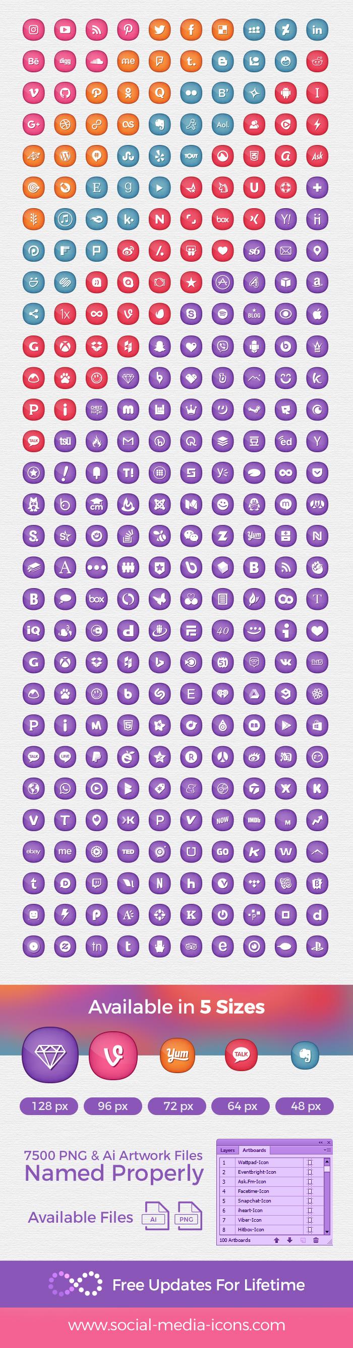300-social-media-icons-set-for-feminine-girly-blogs-website-themes