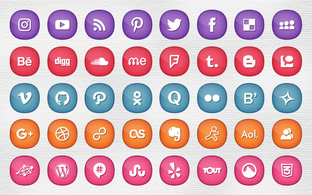 300-social-media-icons-set-for-feminine-girly-blogs-website-themes