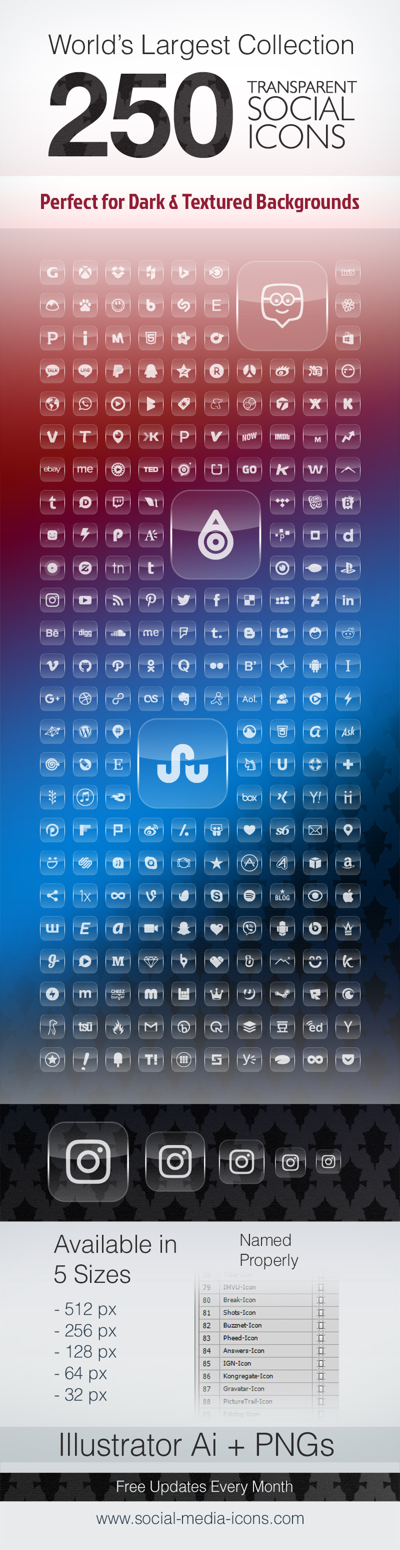 250-Premium-Transparent-Social-Media-Icons-for-Dark-Website-Backgrounds