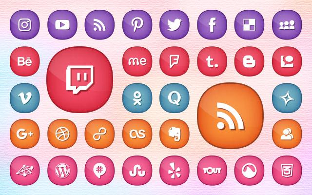 300-Social-Media-Icons-Set-for-Feminine-&-Girly-Blogs--Website-Themes-2017