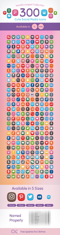 Premium-300-Cute-Social-Media-Icons-SW